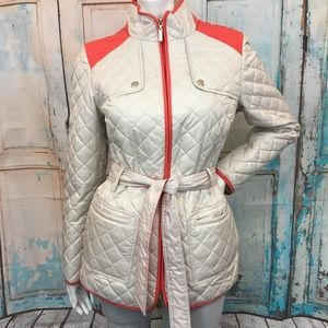 ESPRIT Cream Quilted Lightweight Jacket